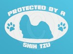 Protected by a Shih Tzu Decal