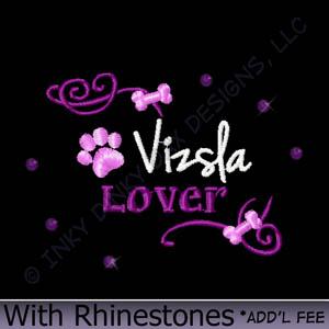 Vizsla Rhinestones Apparel