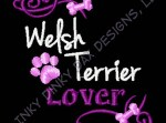 Welsh Terrier Lover Embroidered Sweatshirt
