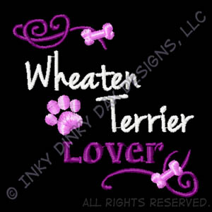 Pretty Soft Coated Wheaten Terrier Embroidered Apparel