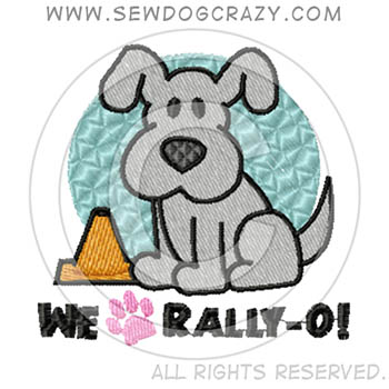 Cartoon Embroidered Rally-O Shirts