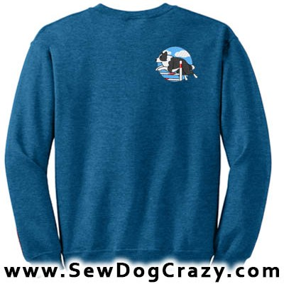 Embroidered Border Collie Bar Jump Sweatshirt