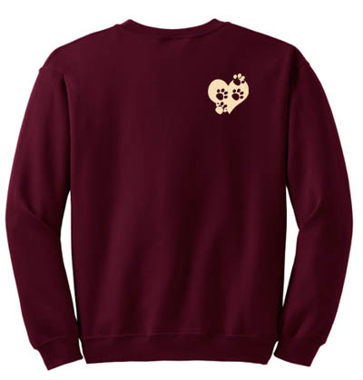 Paw Prints on Heart Sweatshirt