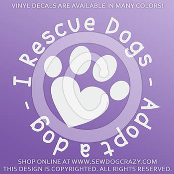 I Rescue Dogs Car Decal