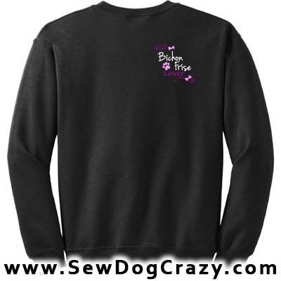 Pretty Embroidered Bichon Frise Sweatshirts