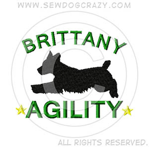 Embroidered Brittany Agility Gifts