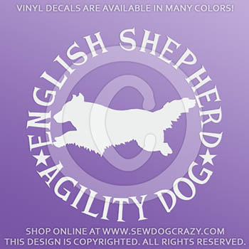English Shepherd Agility Decals
