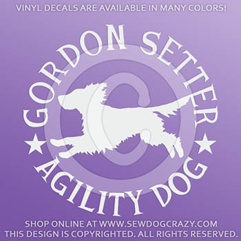 Gordon Setter Agility Decals