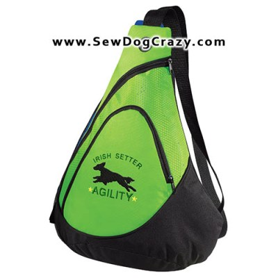 Embroidered Irish Setter Agility Bags