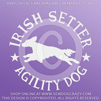 Irish Setter Agility Decals