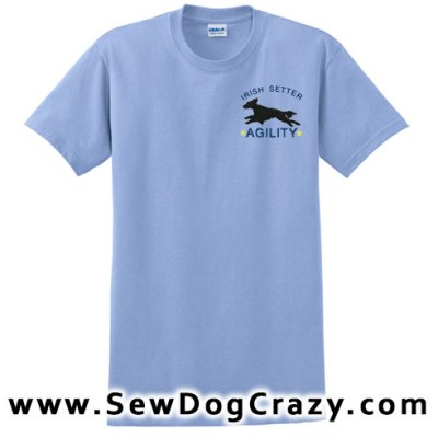 Agility Irish Setter Tshirts