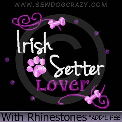 Rhinestones Irish Setter Shirts