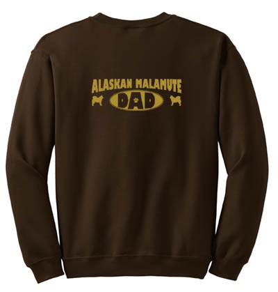 Alaskan Malamute Dad Sweatshirt