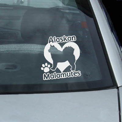 I Love Alaskan Malamutes Decal