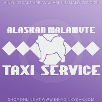 Malamute Taxi Decal