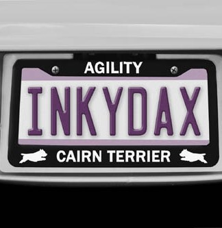 Cairn Terrier Agility License Plate Frame
