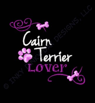 Pretty Cairn Terrier Embroidery
