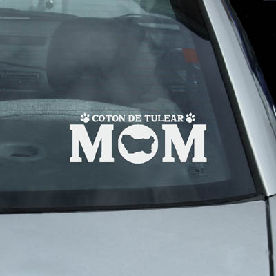 Coton de Tulear Mom Decals