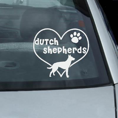 I Love Dutch Shepherd Stickers