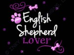 English Shepherd Rhinestones Apparel