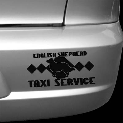 English Shepherd Taxi Decal