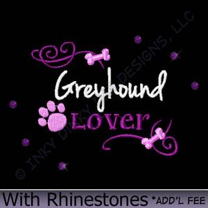 Rhinestone Greyhound Apparel