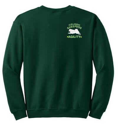 Embroidered Icelandic Sheepdog Agility Sweatshirt