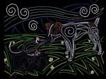Beautiful Dog Mola Art