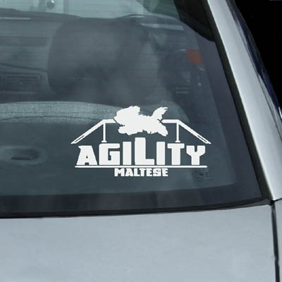 Maltese Agility Dog Decal