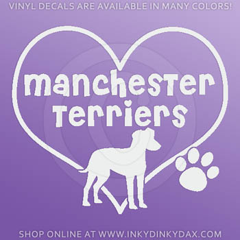 I Love Manchester Terriers Stickers