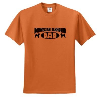Norwegian Elkhound Dad T-Shirt