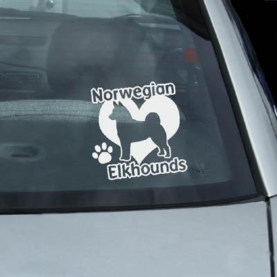 I Love Norwegian Elkhounds Sticker