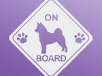 Norwegian Elkhound on Board Stickers