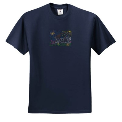 Embroidered Papillon T-Shirt