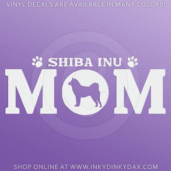 Shiba Inu Mom Decals