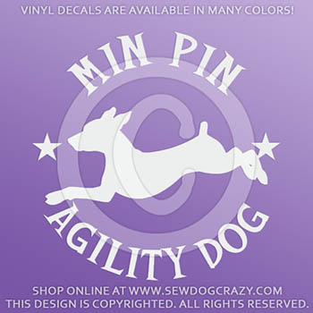 Min Pin Agility Decal