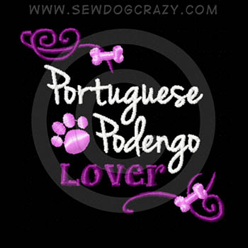 Embroidered Portuguese Podengo Shirts
