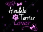 Rhinestones Airedale Terrier Apparel