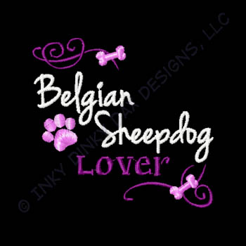 Pretty Belgian Sheepdog Embroidery