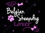 Rhinestones Belgian Sheepdog Embroidery