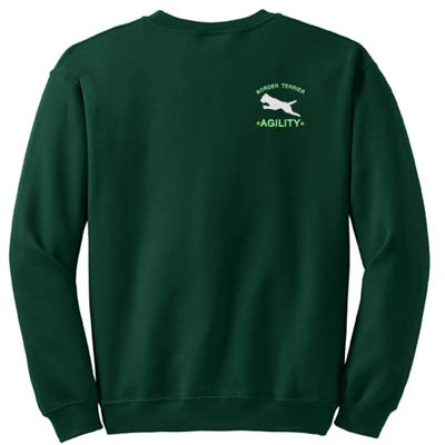 Embroidered Border Terrier Agility Sweatshirt