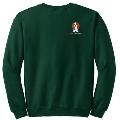 Embroidered Cavalier King Charles Spaniel Sweatshirt