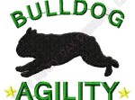 Agility English Bulldog Embroidery