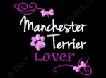 Pretty Manchester Terrier Embroidery
