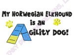 Norwegian Elkhound Agility Embroidery