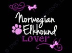 Pretty Norwegian Elkhound Embroidery