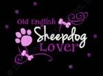 Rhinestones Old English Sheepdog Embroidery