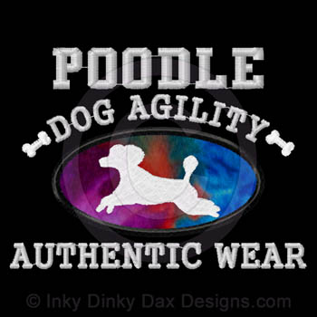 Embroidered Puppy cut Poodle Agility Apparel