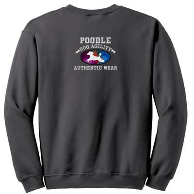 Poodle Agility Applique Sweatshirt