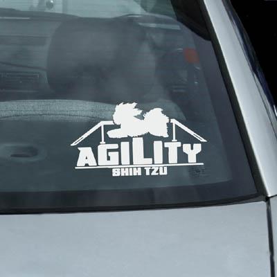 Shih Tzu Agility Dog Decals